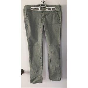 AE green stretch skinny pants